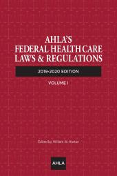 AHLA Federal Healthcare Laws and Regulations (Non-Members) cover
