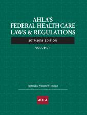 AHLA Federal Health Care Laws and Regulations (Non-Members) cover