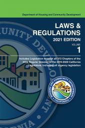 California Department of Housing and Community Development, Laws and Regulations cover