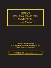 Burns Indiana Statutes Annotated - Commercial Law (T. 26, Art. 1, chs. 1-4.1): (chs. 1-4.1) UCC cover