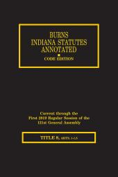 Burns Indiana Statutes Annotated - Utilities & Transportation: Public Utilities and Municipal Utilities (T. 8, Articles 1 - 1.5) cover