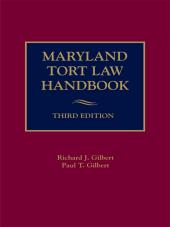 Maryland Tort Law Handbook cover