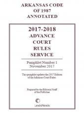 Arkansas Advance Court Rules Service cover