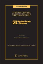 Statutory Laws of Maryland Relating to Land Surveyors cover