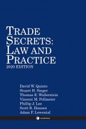 Trade Secrets: Law and Practice cover