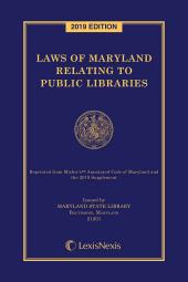 Laws of Maryland Relating to Public Libraries cover