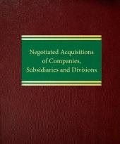 Negotiated Acquisitions of Companies, Subsidiaries and Divisions cover