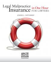 Legal Malpractice Insurance in One Hour for Lawyers cover