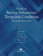 Guide to Service Subcontract Terms and Conditions cover