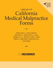 Library of California Medical Malpractice Forms cover