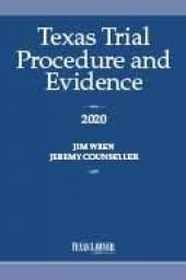 Texas Trial Procedure and Evidence  cover