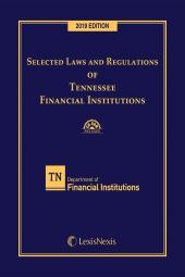 Selected Laws and Regulations of Tennessee Financial Institutions cover