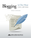 Blogging in One Hour for Lawyers Ebook cover