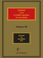 Opinions of the Attorney General of California cover