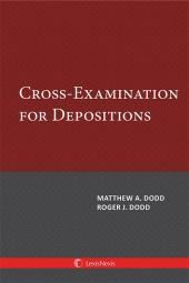 Cross-Examination for Depositions cover