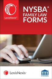 LexisNexis® New York State Bar Association's Automated Family Law Forms cover