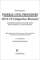 Weissenberger's Federal Civil Procedure Litigation Manual cover
