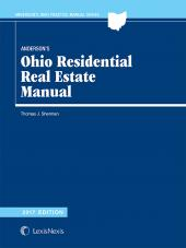 Anderson's Oh Residential Real Estate Manual 2009 Edition cover