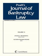 Pratt's Journal of Bankruptcy Law cover