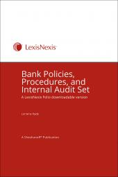 Bank Policies, Procedures, and Internal Audit Set - LexisNexis Folio cover