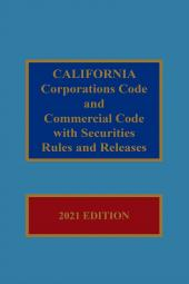 California Corporations Code and Commercial Code with Corporate Securities Rules and Releases cover