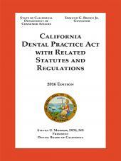 California Dental Practice Act cover
