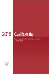 CSC® California Laws Governing Business Entities cover