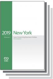 CSC® New York Laws Governing Business Entities Annotated cover