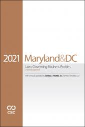 CSC® Maryland & the District of Columbia Laws Governing Business Entities Annotated cover
