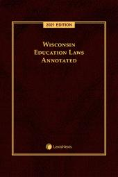 Wisconsin Education Laws Annotated cover