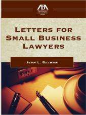Letters for the Small Business Lawyer cover