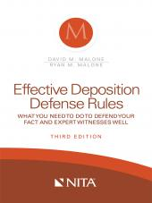 Effective Deposition Defense Rules cover