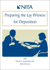 Preparing The Lay Witness for Deposition DVD cover