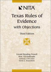 Texas Rules of Evidence with Objections cover