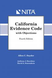 California Evidence Code with Objections cover