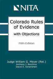 Colorado Rules of Evidence with Objections  cover