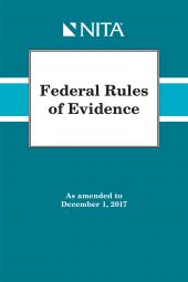 Federal Rules of Evidence As Amended to December 1, 2017 cover