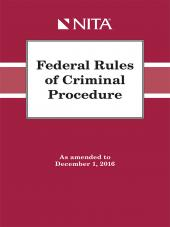 Federal Rules of Criminal Procedure as amended through December 1, 2016 cover