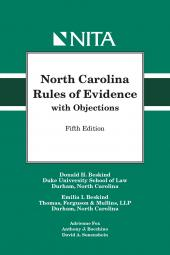 North Carolina Rules of Evidence with Objections cover