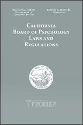 California Psychology Board Laws and Regulations cover