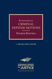 Klinkosum on Criminal Defense Motions cover