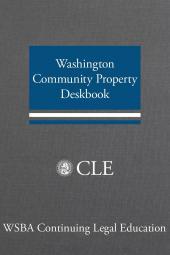 Washington Community Property Deskbook cover