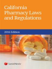 California Pharmacy Laws and Regulations cover