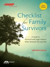 AARP Checklist for Family Survivors cover