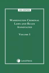 Washington Criminal Laws and Rules Annotated cover