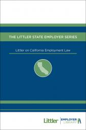 Littler on California Employment Law cover