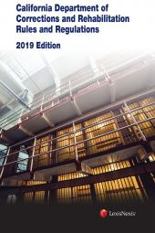 California Department of Corrections and Rehabilitation Rules & Regulations cover