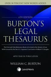 Burton's Legal Thesaurus cover