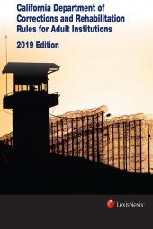 California Department of Corrections and Rehabilitation Rules for Adult Institutions  cover