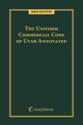 The Uniform Commercial Code of Utah Annotated cover